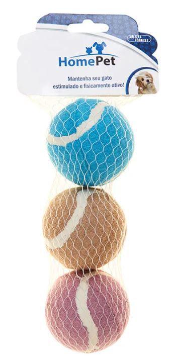 Kit 3 bolas de Tênis Sortido 7 cm
