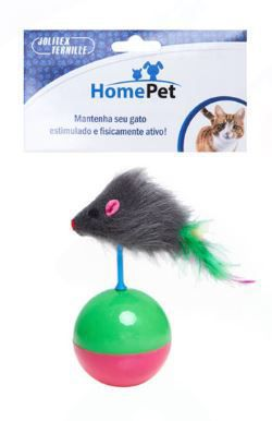 Kit 5 Brinquedos para Gatos - Varinha, Bolinha, Ratinho, Túnel, Catnip