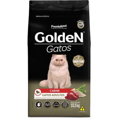 Ração Premier Golden Gatos Adultos Carne 10,1kg