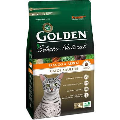 Ração Premier Golden Seleção Natural Gatos Adultos Frango 1kg