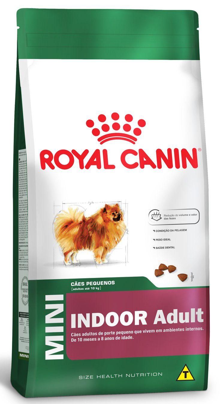 Ração Seca Cão Royal Canin Super Premium Mini Indoor Adult