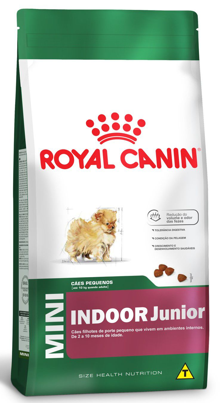 Ração Seca Cão Royal Canin Super Premium Mini Indoor Junior
