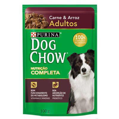Ração Úmida Sachê DogChow Purina Carne e Arroz Adultos