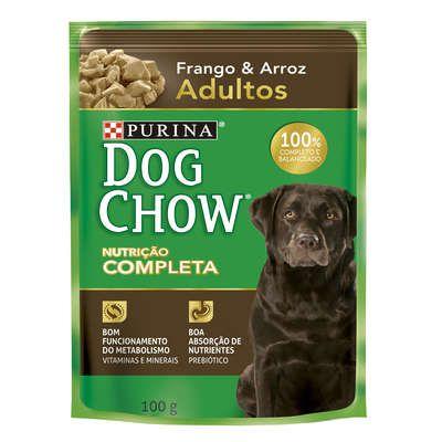 Ração Úmida Sachê DogChow Purina Frango e Arroz Adultos