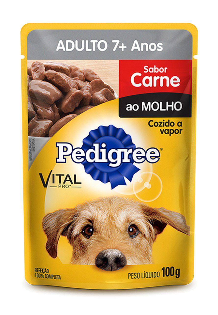 Sachê Pedigree Carne ao Molho 7+ 100g