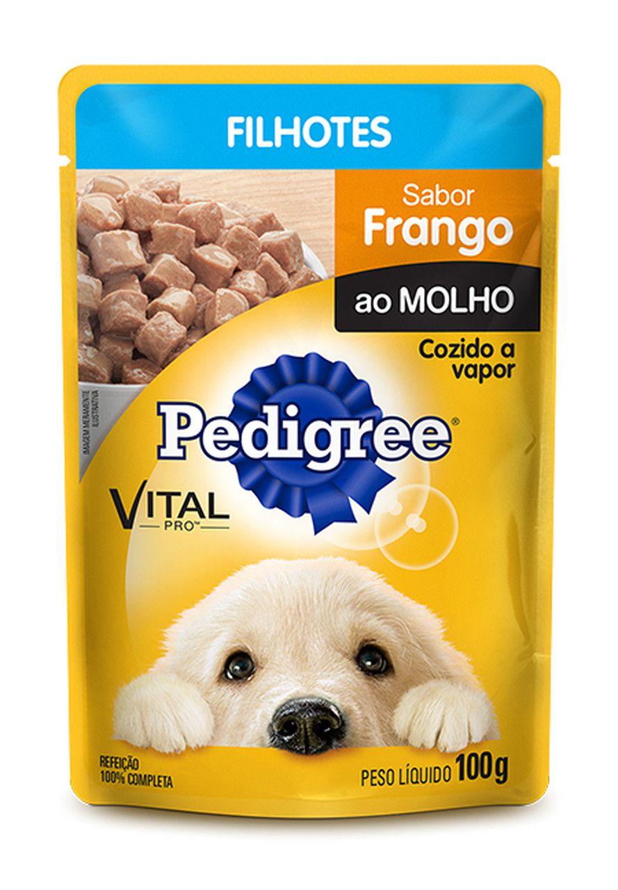 Sachê Pedigree Frango ao Molho Filhotes 100g