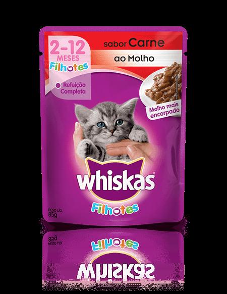 Sachê Whiskas Filhote Carne 85g
