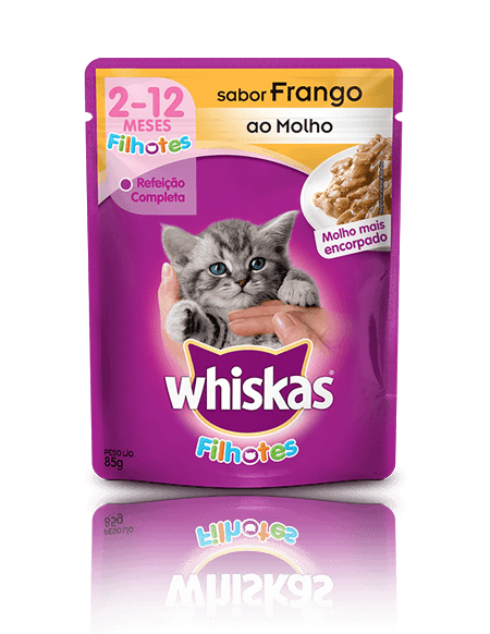 Sachê Whiskas Filhote Frango 85g