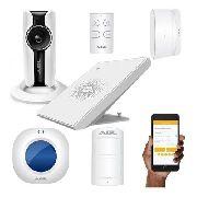 Kit Alarme Sem Fio Wifi Agl + Sensores Hd 720p 5mp