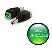 Kit Com 100 Conectores P4 Macho Borne Cftv