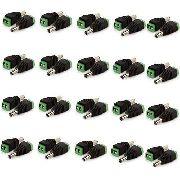 Kit Com 40 Conectores P4 Macho Borne Cftv