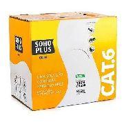 Cabo Lan Cat6 Cmx Azul Sohoplus 100 Metros