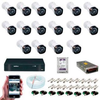 KIT CFTV 16 Câmeras VHD 3130B G4 HD 720P + HD 1 Terabyte Purple