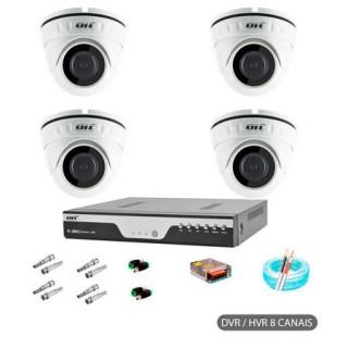Kit CFTV 4 cameras Dome AHD ONELETRONICS