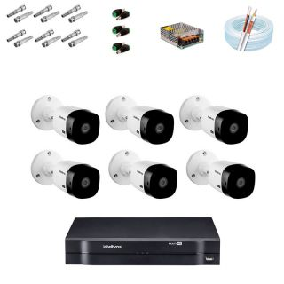 KIT CFTV 6 Câmeras Intelbras VHD 1220B G5 Full HD 1080p