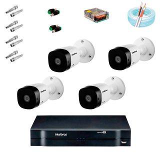 Kit CFTV Intelbras 4 Câmeras Vhl 1120 B HD720p