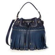 5418faf1b Bolsa Bucket com Franjas Azul AY012-2