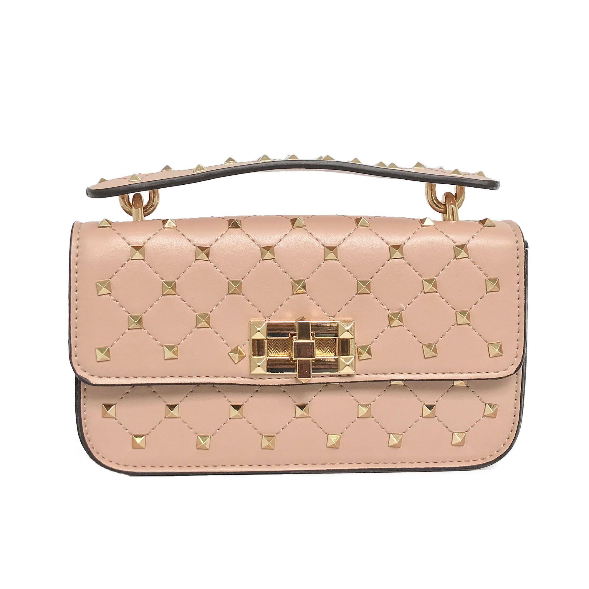 9fde5eaa6 Aymorez - Bolsa Mini Bag com Spikes Nude AY061-6