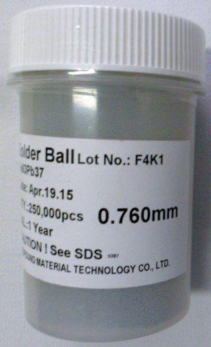 Esferas Solda Bga 0.76mm Chumbo Sn63 Pb37 250k 250mil Leaded