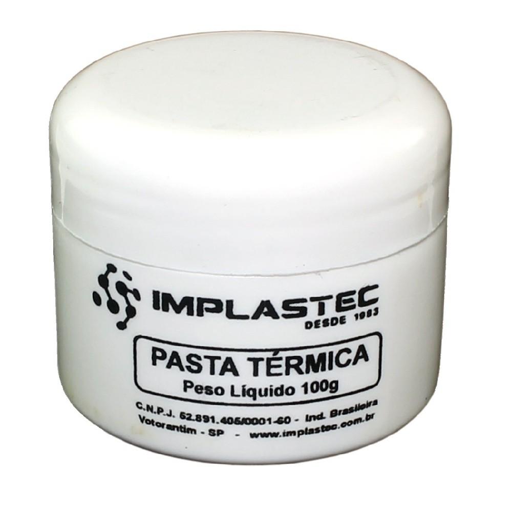 11 Pasta Térmica Implastec 100g Cooler Dissipador Bga
