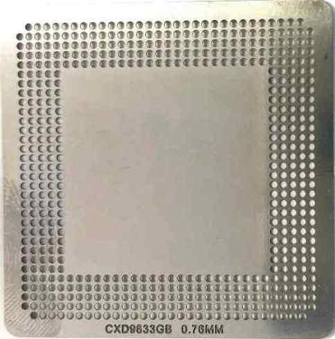 Stencil Cxd9833gb 0.76mm Calor Direto Bga Reballing