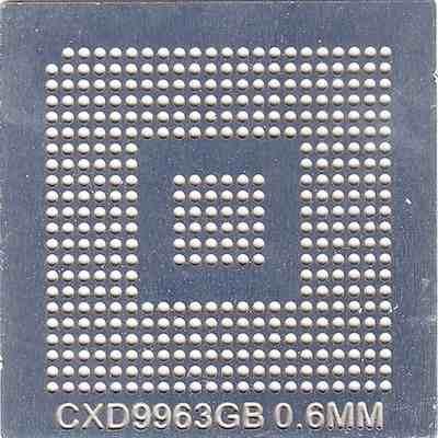 Stencil Cxd9963gb 0,6mm Calor Direto Bga Reballing