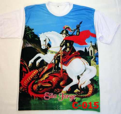 Camisa Camiseta Religiosa Sao Jorge Católica Crista
