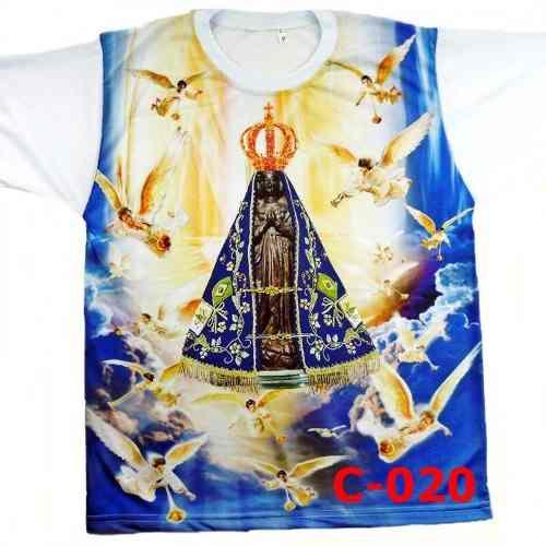 Camisa Camiseta Católica Religiosa Nossa Senhora Aparecida