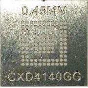 Stencil Cxd4140gg Lfbga-97 0,45mm Calor Direto Bga Reballing