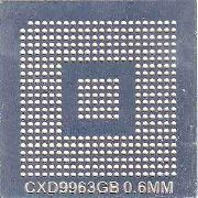 Stencil Cxd9963gb 0,6mm Calor Direto Bga Reballing - GM8