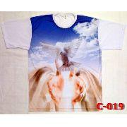 Camisa Camiseta Católica Religiosa Divino Espírito Santo Br