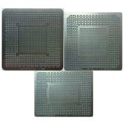 3 Stencil Nvidia Gf100-030-a3 Gf104-325-a1 Gk110-300-a1 Reballing Bga Calor Direto