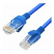 3 x Cabo de Rede Azul Cat 5e Internet 5 Metros Crimpado RJ45