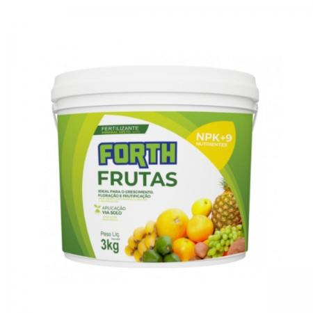 Adubo Fertilizante Forth Frutas 3Kg Favorece Frutificacao do Pomar