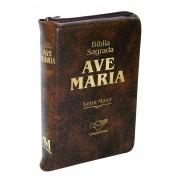 Biblia Sagrada Catolica Ave Maria Letra Grande com Ziper