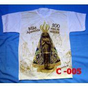 Camiseta Catolica  Religiosa Nossa Senhora Aparecida 300 Anos