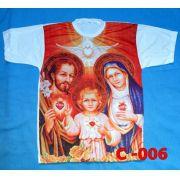 Camiseta Catolica  Religiosa Sagrada Familia