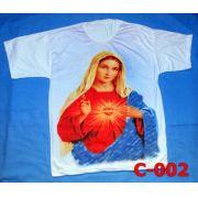 Camiseta Catolica  Religiosa Sagrado Coracao De Maria
