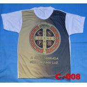 Camiseta Catolica  Religiosa Sao Bento