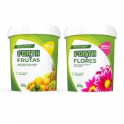 Kit Fertilizante Forth Flores e Frutas 400g Adubo