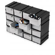 Gaveteiro Plástico Organizador Multiuso Caixa 16 Gavetas 7001