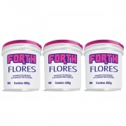 Kit 03 Adubo Fertilizante Forth Flores 400g