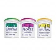 Kit 03 Adubo Fertilizante Forth Jardim Flores Frutas 400G