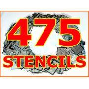 Kit 475 Stencils Bga Reballing Retrabalho Reflow Rework + Suporte Aquecimento Direto Calor
