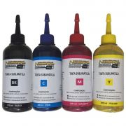 Kit 4 Cores Tinta Sublimática 100ml Para Uso Epson Transfer