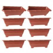 Kit 8 Vaso Jardineira Floreira  Terracota Arqplast Média 37,5x17,5x14cm - 25300
