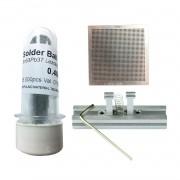 Kit Stencil Universal 0,4mm Solda Esfera 25k Bga Reballing + Suporte