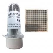 Kit Stencil Universal 0,60mm 0.9 Solda Esfera 25k Bga Reballing