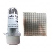 Kit Stencil Universal 0,6mm 1.1 Solda Esfera 25k Bga Reballing