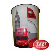 Lixeira Plástico 10 Litros Balde Cidades Mundo Escritório - London